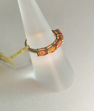 Fire Opals Band Oval Fine Gemstone Rings