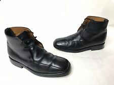 ALFRED SARGENT Black leather calfskin Combat military chukka Boots UK 7 US 8 VTG