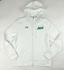 Under Armour Notre Dame Irish Storm Full Zip Hoodie Women's M White 1258828