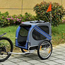 More details for pet bicycle trailer dog cat bike carrier water resistant blue outdoor