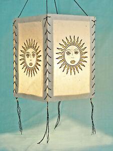Lampshade Sun, Natural Colours, Lokta Paper , Paper Light Paper Lamp Lantern