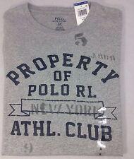 Polo Ralph Lauren Men's Custom Fit Crew Neck Logo T-Shirt Size Small Gray