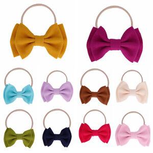 Accessories Turban Elastic Nylon Hairband Big Bow Headband Girls Baby Knotted