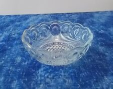 Vintage Bubble Circle Clear Glass Candy/Nut/Trinket Dish