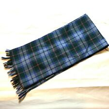 Authentic Maine State Tartan Coat Scarf Green Blue Plaid Casual Fringed