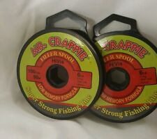 Mr. Crappie Filler Spool Line 100 Yards HiVis 6lb MC6PSHV *(2 BRAND NEW SPOOLS)*