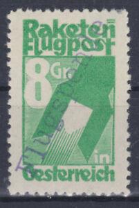 Schmiedl Raketen Flugpost Flugspende Marke Postfrisch Aufdruck vorne + hinten