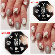 Nail Art Stamping Plates Image Plate Decoration Christmas Rudolf Trees (MC01)