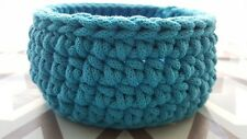 Crochet Basket, Round Basket, Handmade Storage Basket, Nursery Storage Box