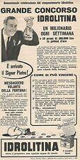 W8917 IDROLITINA - Grande Concorso - Pubblicità del 1958 - Vintage advertising