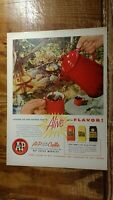 C 1956 Alive With Flavor A & P Custom Ground Coffee Advertisement