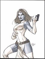 MYSTIQUE X-Men Original Art by Scott Dalrymple Matted Signed 2015
