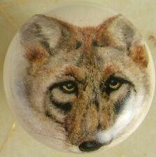 Cabinet Knobs Knob w/ Coyote Head Shot Wildlife