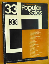 33 Popular Solos  World and Music  C INSTRUMENTS(Melody-Harmony-with Bass)  -D