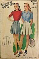 c1940/50's Vintage Sewing Pattern Economy Design 180 Ladies Shorts