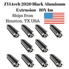 10 Pack ZYLtech 2020 T-Slot Aluminum Extrusion - 10X 1M Black 3D Printer CNC