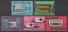 POLAND 1962 Matchbox Label - Cat.Z#242/46II  Radio in every home (II)
