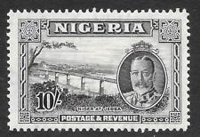 Nigeria 1936 10/- Black & Grey SG 44 (Mint)