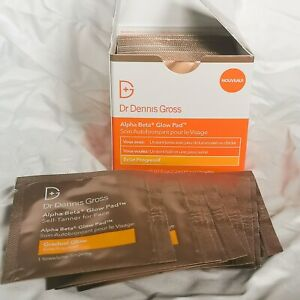 Dr Dennis Gross Alpha Beta Glow Pad BNIB 20 Towelettes Gradual Facial Tan RRP£36