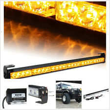 "Amber 27"" Emergency Warning Car Traffic Advisor Vehicle Strobe 24 LED Light Bar"