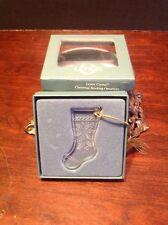 Very Rare Lenox Crystal 1991 Christmas Poinsettia Stocking Ornament With Box