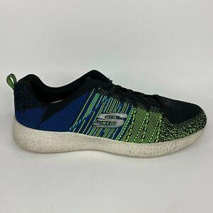 Skechers Athletic Sneakers Men's Size 13 Blue Green Mesh Walking Comfort Lace Up