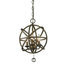 Z-Lite Acadia 3 Light Pendant, Golden Bronze - 416-12