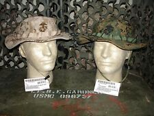 2 NEW USMC MARPAT Boonie Hats Woodland & Desert size XLarge Original USMC Issue
