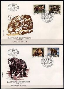 3454 Yugoslavia 1988  WWF, Brown Bears FDC