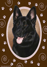 Garden Indoor/Outdoor Paws Flag - Black German Shepherd 170911