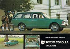 Toyota Corolla 1200 Estate KE20 1971-72 UK Market Leaflet Sales Brochure