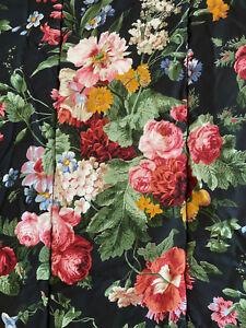 Ralph Lauren Cossette Isadora KING Comforter Bold Floral On Black