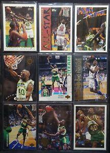 Shawn Kemp 9 Pack of Cards - Various NBA Hoops, Upper Deck, Ultra Fleer, Skybox