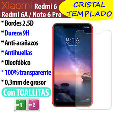 Cristal Templado Protector De Pantalla Para Xiaomi Redmi Note 6 Pro, Redmi 6, 6A