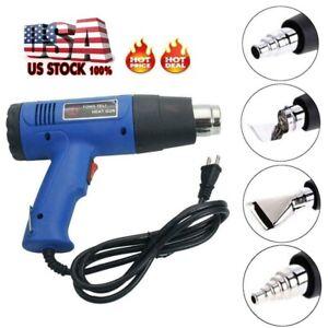 Heat Gun Hot Air Wind Blower Dual Temperature w/ 4 Nozzles Power Heater 1500W US