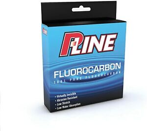 P-Line Fluorocarbon 2 lb Fishing Line Leader Invisible 229 m