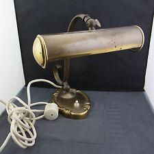 schöne alte Schreibtischlampe Messing ca.um 1910