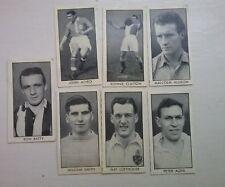 DC Thomson Adventure Football Stars 1957 seven cards