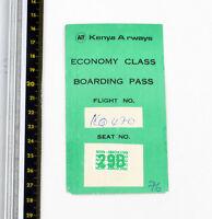 Kenya Airways - Abordando Pase - Economía Clase - 1980s - Buen Estado