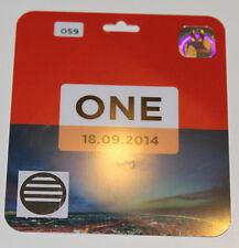 Ticket pass for collectors EL Legia Warszawa Poland  KSC Lokeren Belgium