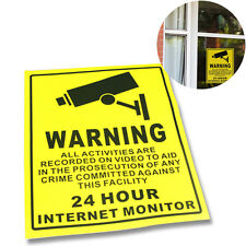 Cctv Security Surveillance Camera Warning Sticker Warning Lable Sign Decals