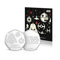 Star Wars Christmas Card Stocking Filler Collectable Official Silver Coin
