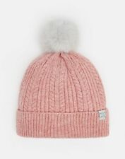 Joules 124976 Knitted Hat ONE in ROSE PINK in One Size