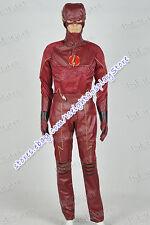 The Flash 2014 Cosplay Superhero Barry Allen Costume Uniform Suit Tailor Made