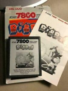 Atari 7800 Game - Dig Dug w/ box & instruction manual