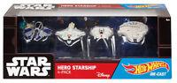 Disney Star Wars: Hot Wheels Die-Cast Hero Starship 4-Pack  [BRAND NEW SEALED]