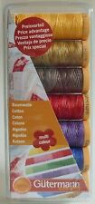 GUTERMANN  MULTI-COLOUR  COTTON 50 THREAD SET FOR PATCHWORKING AND QUILTING