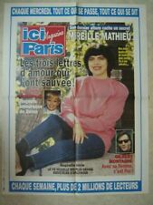 AFFICHE PROMO ICI PARIS MIREILLE MATHIEU MONTAGNE