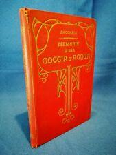 Zaccaria, Memorie d'una goccia d'acqua. Infanzia Illustrato Legatura 1889