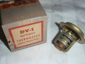 Brass Butterfly Style 160 degree Thermostat 1955-1957 Hudson Hornet V8 55 56 57